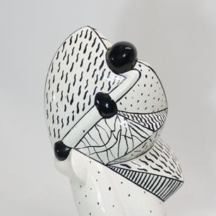 Postmodern / Cubism Pottery Sculpture
