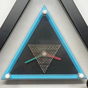 80's Postmodern Design Layer Triangle Clock