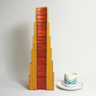 80's Italy Postmodern Design Desk-Top Chest