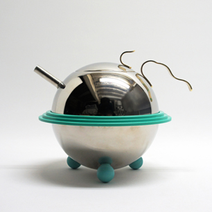 80's Postmodern Design Stainless Pot & Bowl