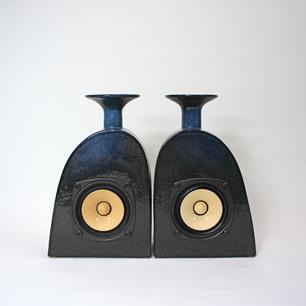 徳田安紀 製作 Pottery Speaker Set