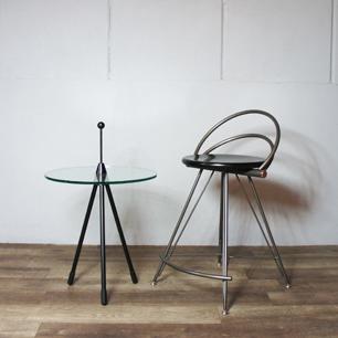 80's Italy Postmodern Design Tripod Side Table