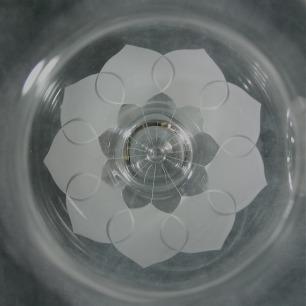 クリスタルに浮かぶ蓮の花