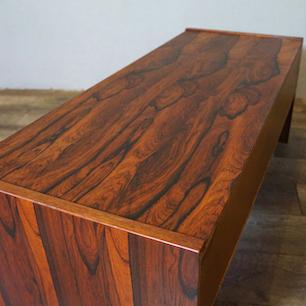 60's Denmark Rosewood & Stoneware Tile Lo-Cabinet / AV-Board