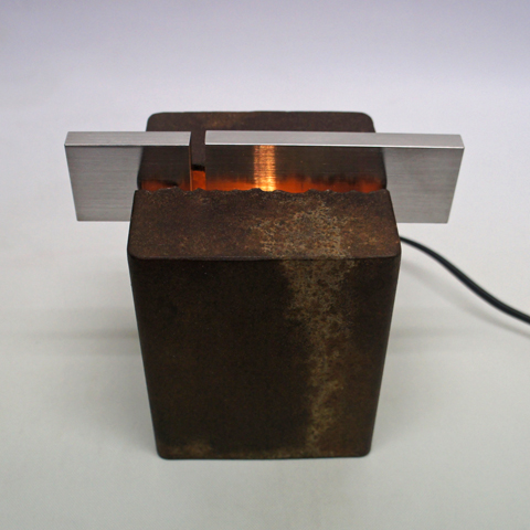 Rustic Iron & Stainless 現代アートオブジェ照明