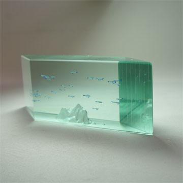 Art Glass Aquarium Objet(Parallelogram)