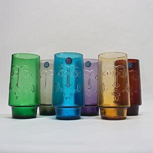 """60年代 SASAKI Glass """"色とりどりのスマイル"""""""