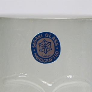 60's Sasaki Glass 顔のレリーフタンブラー6点セット