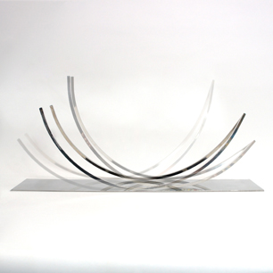 Stainless Abstract Swing Sculpture