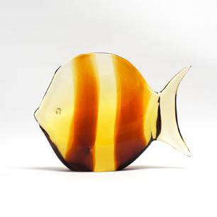 Seguso「光に泳ぐムラノガラスフィシュ」