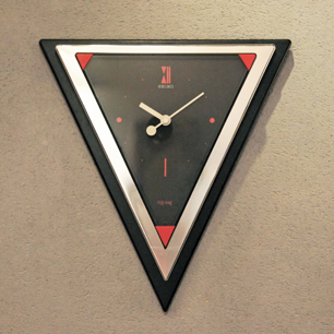 80's SEIKO Postmodern Design Triangle Wall Clock