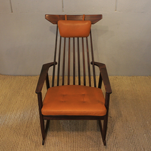 60's Denmark Rosewood Rocking Chair