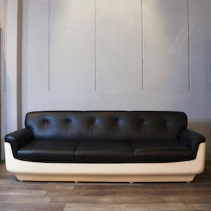 70's Vintage Space Age Design 3seater Sofa