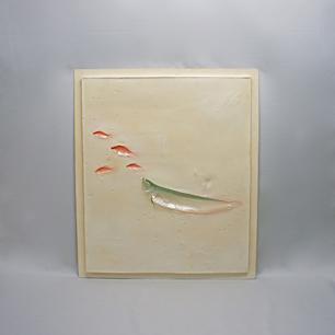 城戸 孝充「サカナ達」樹脂レリーフ彫刻
