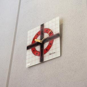 70's Retro Mode Design Mirror Clock by Takashi Omura