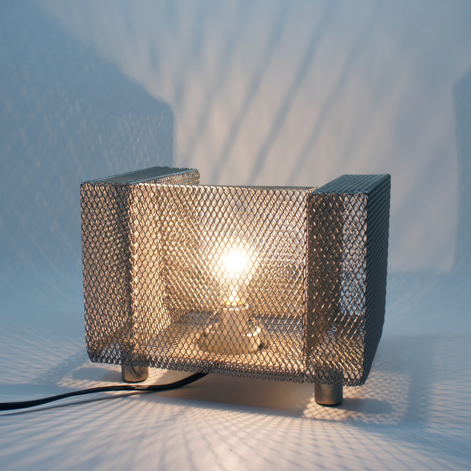 Expanded metal Miniature Chair Display Lamp by