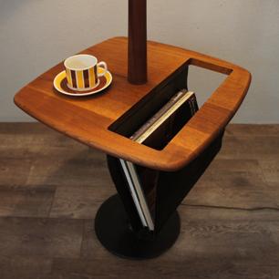 60's Vintage Teak Lamp Table