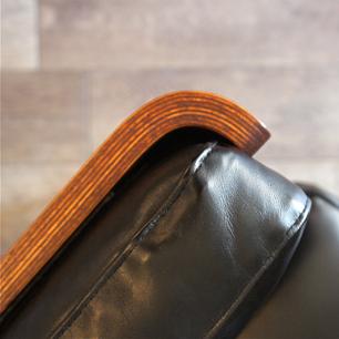 ヴィンテージ天童木工「剣持 勇」 デザイン 3人掛けソファ  ブラジリアンローズウッド/本革