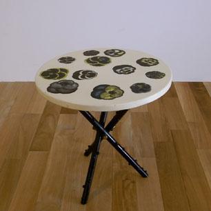 "Fornasetti  Vintage ""Viole"" Tripod Table"