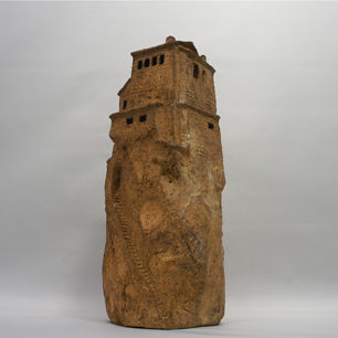 崖に建つ陶の家