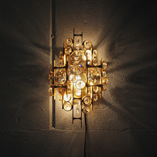 U.S. Vintage Wall Chandelier Sculpture