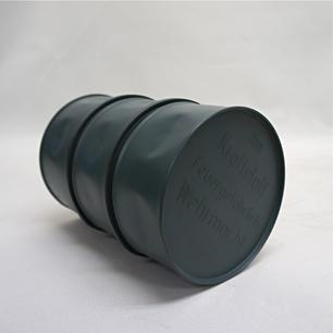飾る「ドラム缶」