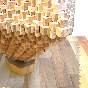 Oak/Lauan Craft Wood Block Sculpture(L)