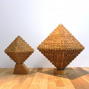 Oak/Lauan Craft Wood Block Sculpture(M)