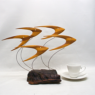 U.S. Mid-century Boomerang Fish Sculpture