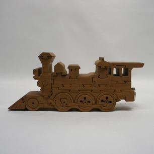 工芸 組木動物パズル「汽車」