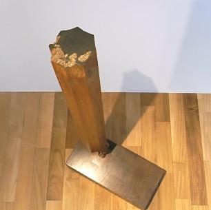 鳥山豊 Solid Teak & Walnut<br/>木製彫刻