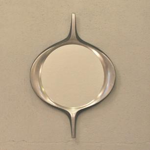 柳宗理 !? Cast Aluminium Streamline Wall Mirror